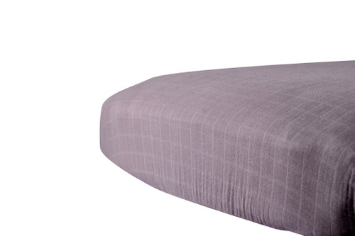 Cool Grey Crib Sheet Soft Breathable 100% Natural Cotton Muslin