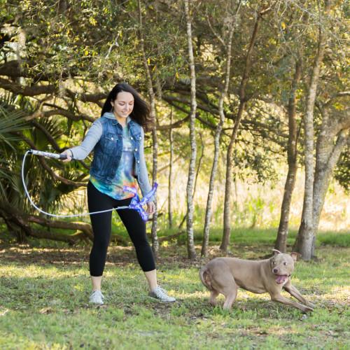 Squishy Face Studio Flirt Pole V2 Dog Exercise & Training Toy