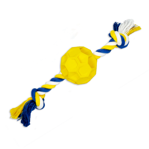 Rubber Soccer Ball Chew Toy with Tug Rope High Quality Natural Rubber