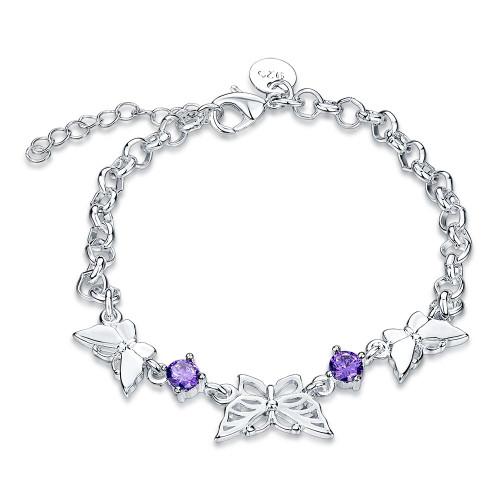 Miramas 18K White Gold Plated Bracelet Made with Swarovski Crystals
