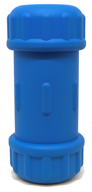 ID Bone Durable Rubber Chew Large Blue Toy and Treat Dispenser