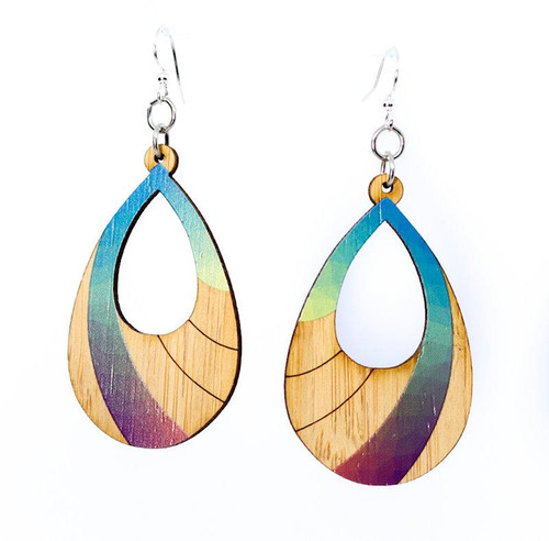 "1.2"" x 1.9"" Eco-Fashion Prism Bamboo Earrings"