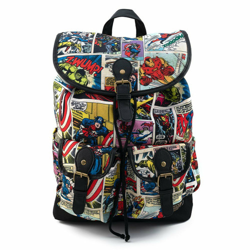 Loungefly Marvel Comic Slouch Backpack