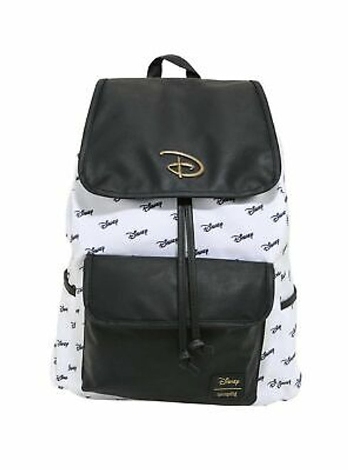 Loungefly Disney Logo Slouch Backpack