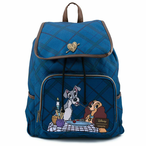 Loungefly Disney Lady and The Tramp Slouch Backpack Bag NWT