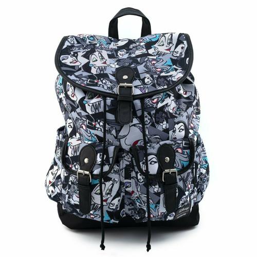 Loungefly Disney Villains Nylon Slouch Backpack