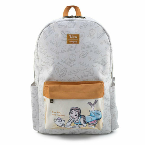 Loungefly Disney Beauty and the Beast Belle Reading Nylon Backpack