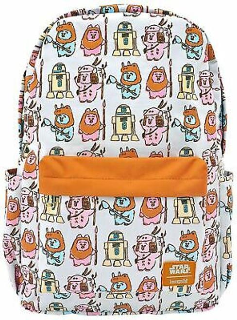 Loungefly Star Wars Pastel Ewok AOP Nylon Backpack