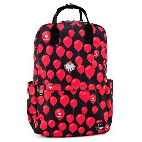 Loungefly X IT I Heart Derry Balloons AOP Nylon Backpack