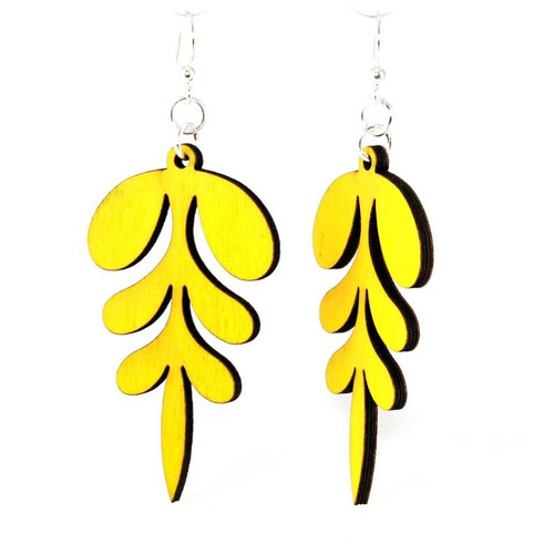 "2"" x 1.1""  Eco-Friendly Designed Yellow Point Earrings"