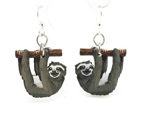 "1"" x 1"" Eco-Friendly Funny Sloth Earrings"