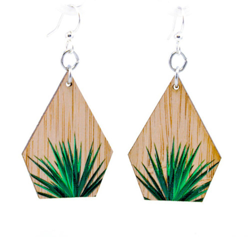 "1.1"" x 1.4"" Eco-Fashion Yucca Bamboo Earrings"