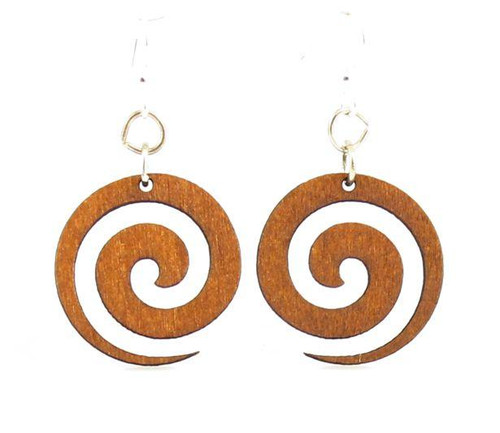 """0.9"""" X 0.9"""" Cinnamon Color Spiral Blossoms Earrings"""
