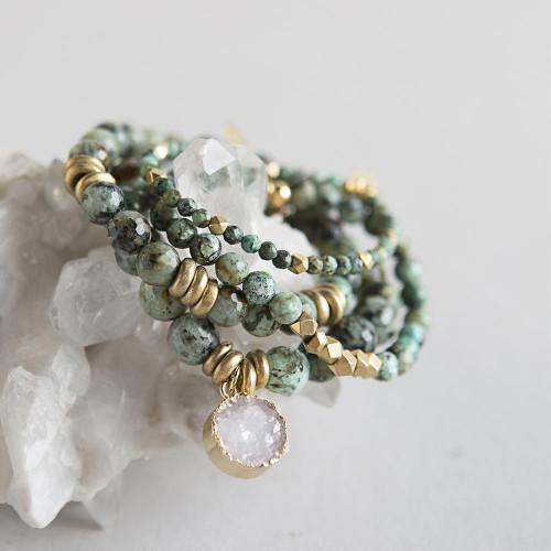Beautiful African Turquoise Gemstone Bracelets