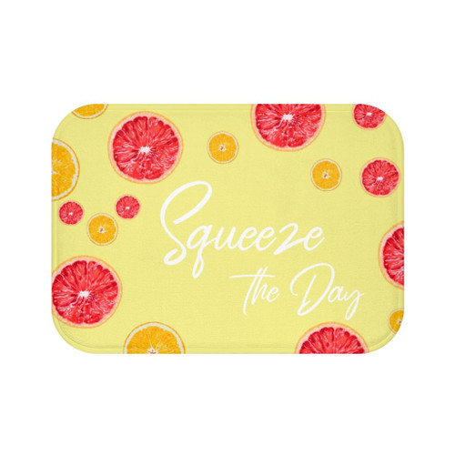 """24"""" x 17"""" Citrus Squeeze the Day Bath Mat"""