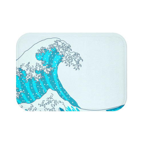 "24"" x 17"" Beautiful Microfiber Waves Bath Mat"
