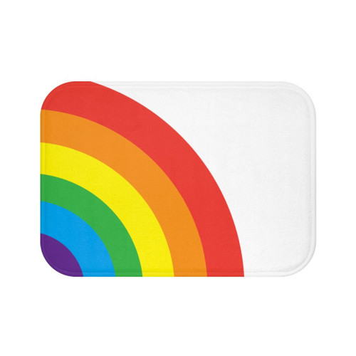 "24"" x 17"" Microfiber Rainbow Bath Mat"