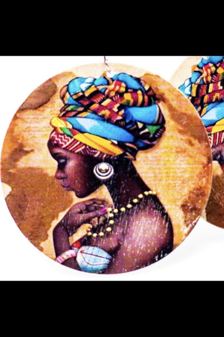 2.25 inches Handmade Queen Mother Nickel-Free Hoops Drop Earrings