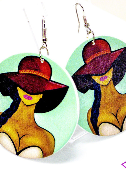 Handmade Nickel-Free Unbothered Hoops Drop Earrings