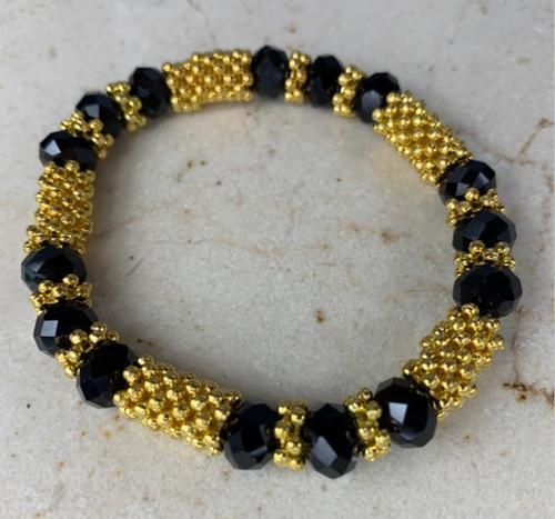 Gold & Black Unisex Custom Unique design Hand Bracelet