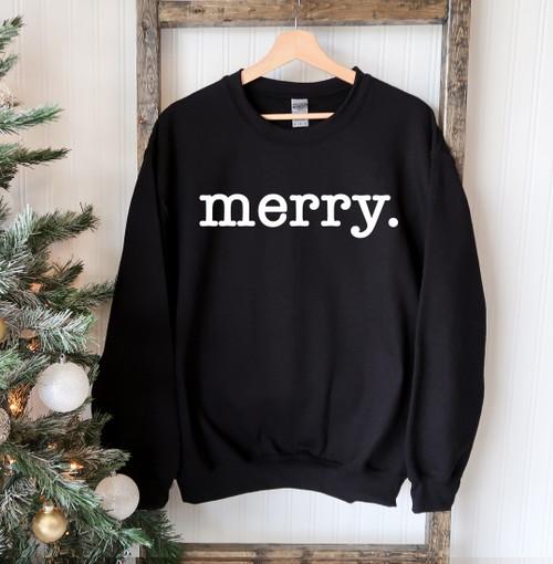"""""""Merry""""- Printed Comfortable & Stylish Sweatshirt"""