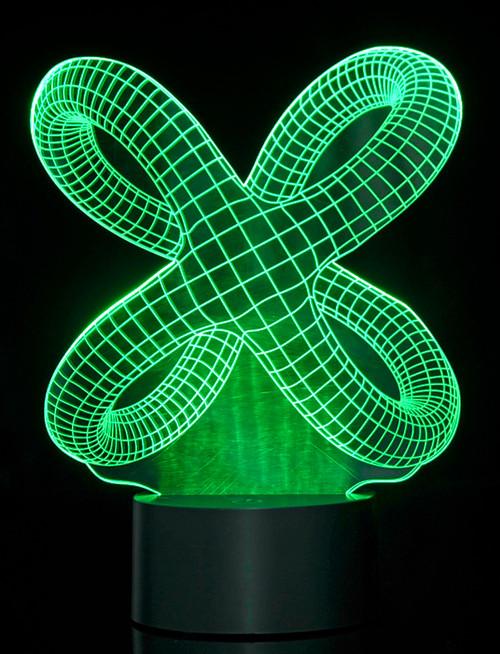 Magical 3D Illusion Lamp Crisscross Rings Laser Cut Precision LED Lights