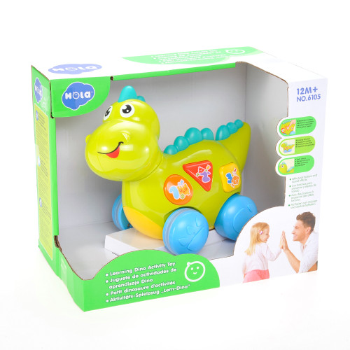 Cute Musical Talking Dinosaur Toy With Lights, Sounds, And Educational Activities