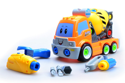 Take Apart Build Your Own Cement Mixer Truck ( 38 Parts)