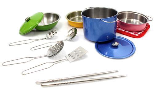 Metal Pots And Pans Kitchen Cookware Fun Playset