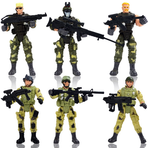 Special Force Army SWAT Soldiers Action Figures with Weapons and Accessories 6 Figures/Pack
