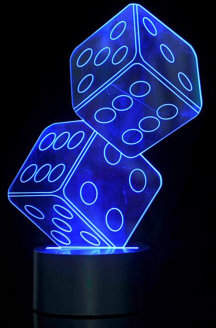 Magical 3D Illusion Lamp Dice Lighting Laser Cut Precision LED Lights
