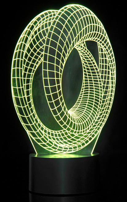 Magical 3D Illusion Lamp Corkscrew Lighting Laser Cut Precision LED Lights