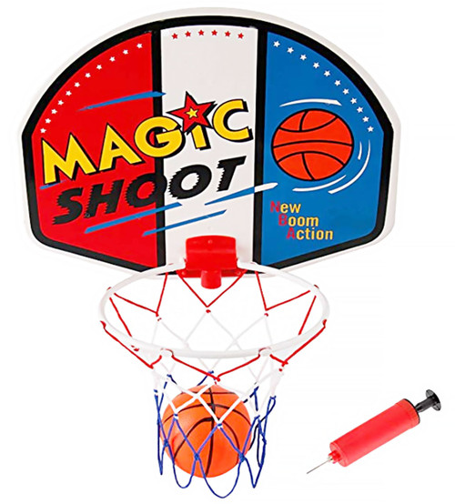 Magic Shot Mini Basketball Hoop Set With Ball And Pump- Easy To Mount