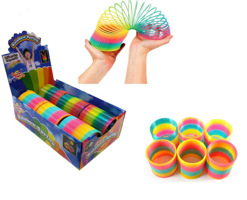 """4"""" Giant Magic Rainbow Spring (Set of 6)- A Classic Novelty Toy"""