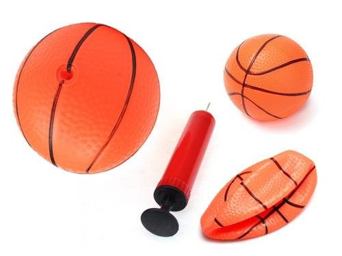 Pack Of 3 Inflatable Magic Shot 3 Mini Hoop Basketballs With Pump