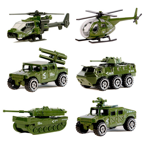Diecast Military Vehicle Playset (6 Vehicles)- Made Of Non Toxic Material