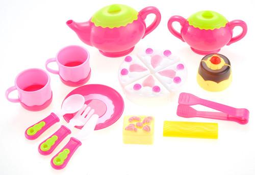 Colorful Cake & Dessert Pink Play Set- Fun Tea Party Set