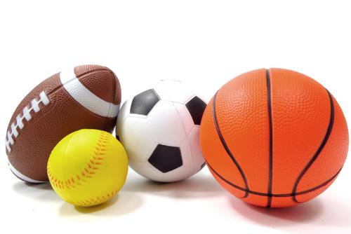 Set Of 4 Sports Balls For Your Athlete Kids (Soccer Ball, Basketball, Football, Baseball)