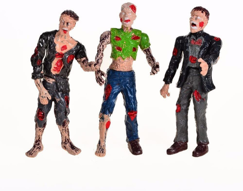 Zombie Action Figures Playset With Movable Joints (Pack of 6)