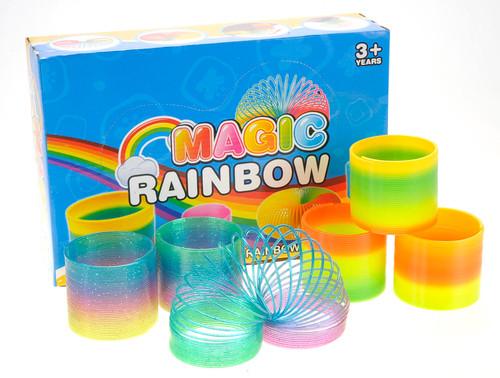 "Lassic Novelty Toy 3"" Magic Rainbow Springs Assorted Colors (1 Dozen)"