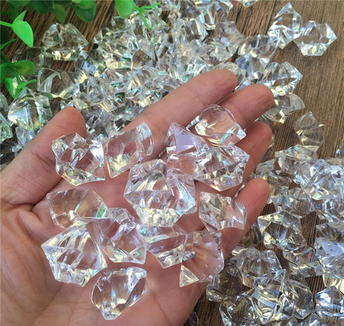 Looks Realistic- Clear Acrylic Ice Rock Table And Wedding Decoration (3 LB Bag)