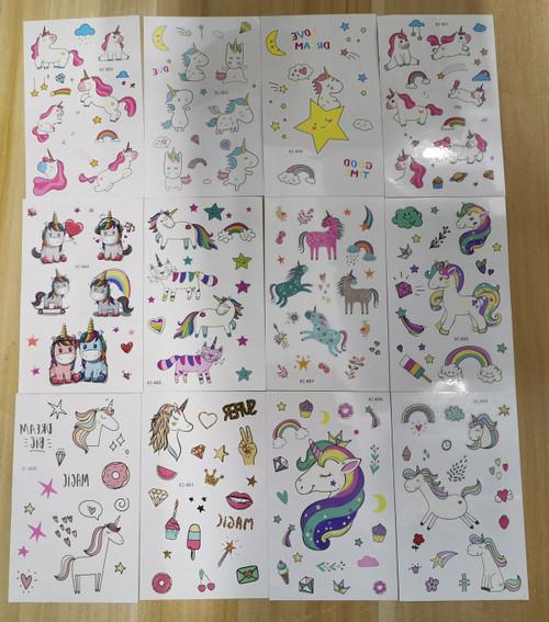 Temporary Enchanted Tattoos Kids- 12 Sheets Of Whimsical Fun