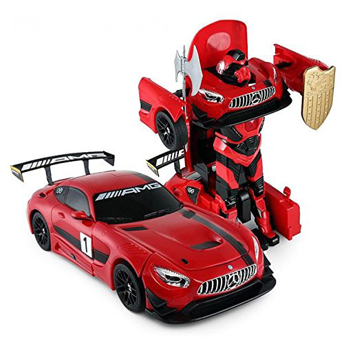 RC Mercedes-Benz GT3 2.4ghz RC Transformer Dancing Robot Car (Red)- 2 In 1 Action Figure Toy