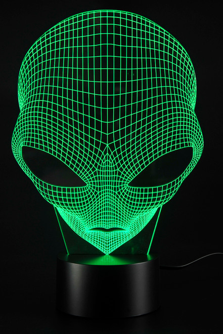 Magical 3D Illusion Grow LED Alien Shapes Lamp 7 Colors USB Power