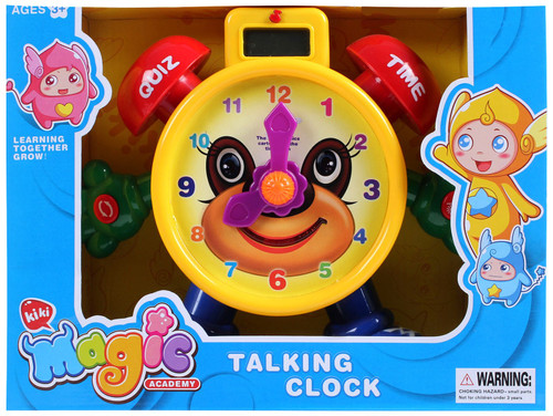 Electronic Learning Teach Time Clock Educational Toy for Kids- Smart Play With Fun