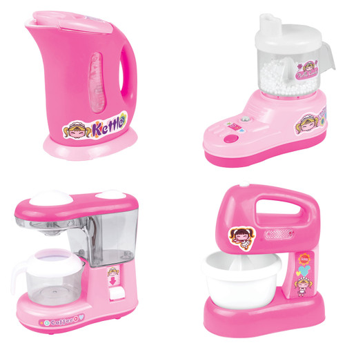 Awesome Kitchen Appliance Pink Pretend Playset