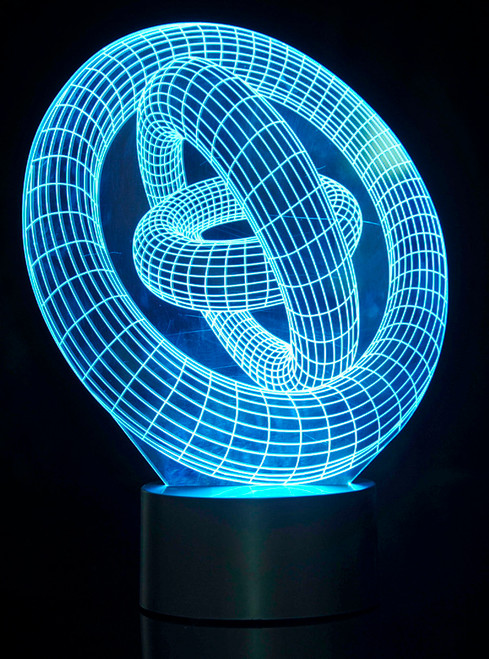 Magicak 3D Illusion Lamp Ring-In-Ring Laser Cut Precision LED Lights