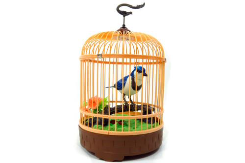 Singing & Chirping Bird In Cage - Realistic Sounds & Movements (Blue)- Relax Your Mind