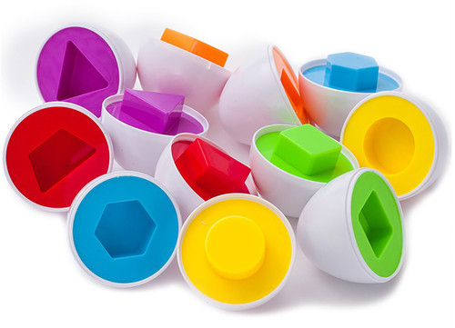Educational Matching Shape And Color Eggs Game Playset- Learning Is Fun