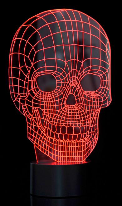 Magical 3D Illusion Lamp Skull Laser Cut Precision LED Lights